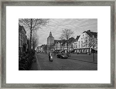 View To The Bosch Street In Maastricht Framed Print by Nop Briex
