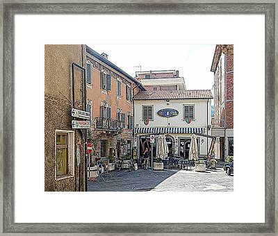 View To The Main Square Tavernelle Umbria Framed Print