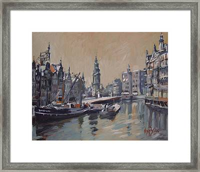 View To The Mint Tower Amsterdam Framed Print by Nop Briex