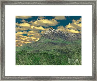 View To The Mountain Framed Print by Gaspar Avila