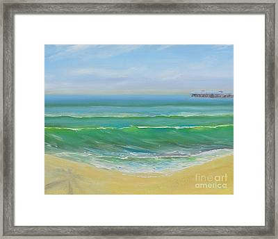 View To The Pier Framed Print