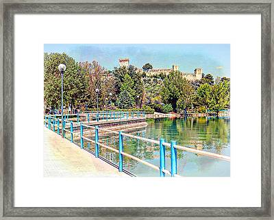 View To The Rocca Framed Print by Dorothy Berry-Lound