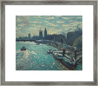 View To Westminster London Framed Print