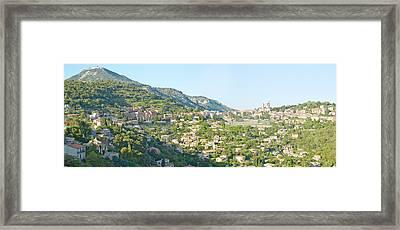 View Toward Town Of La Turbie Framed Print