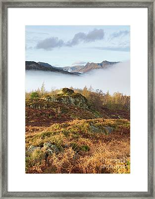 View Towards The Langdales From Holme Fell Framed Print