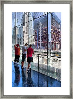 Viewing Ground Zero 2 Framed Print by Robert Ullmann
