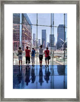 Viewing Ground Zero Framed Print by Robert Ullmann