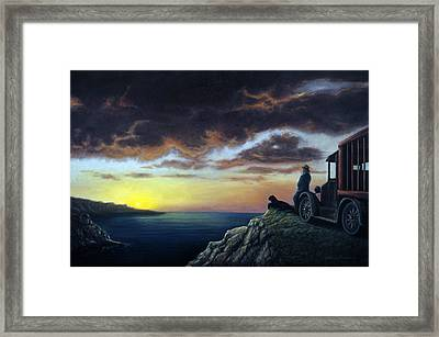 Viewing The Bay Framed Print by Lance Anderson