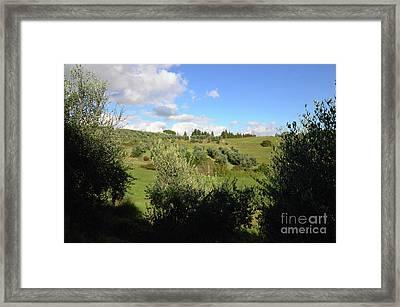 Views And Vistas In Tuscany Framed Print by DejaVu Designs