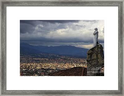 Vigil Over Cuenca From Turi Ecuador II Framed Print
