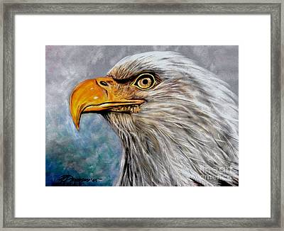 Framed Print featuring the painting Vigilant Eagle by Patricia L Davidson