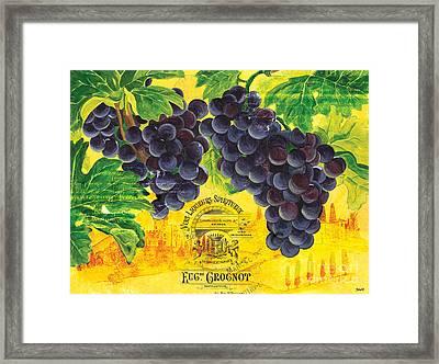 Vigne De Raisins Framed Print by Debbie DeWitt