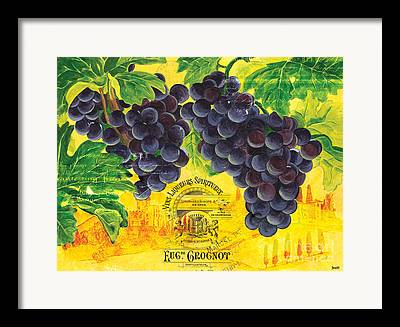 Vine Grapes Framed Prints