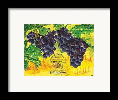 Wine Grapes Framed Prints