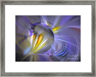 Vigor - Abstract Art Framed Print by Sipo Liimatainen