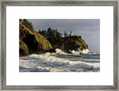 Vigorous Surf Framed Print