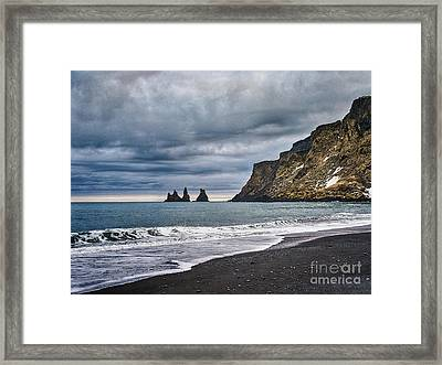 Vik Winter Wonderland Beach Framed Print