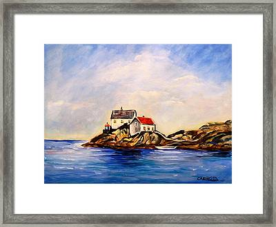 Vikeholmen Lighthouse Framed Print