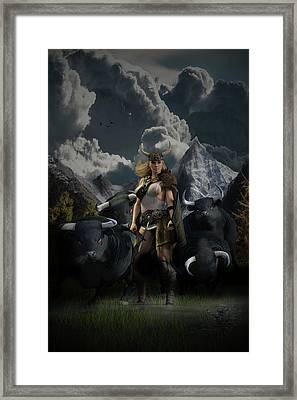 Viking Gefjon Framed Print