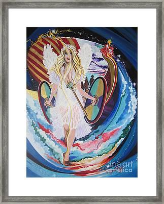 Blaa Kattproduksjoner   Welcomes Viking Goddess  To  Egypt Framed Print