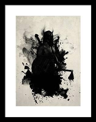 Axe Digital Art Framed Prints