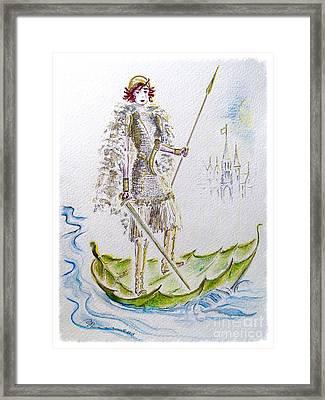Viking Princess Framed Print by Barbara Chase