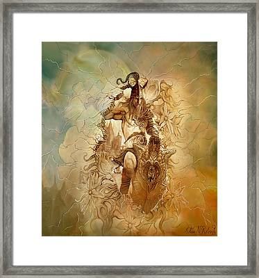 Framed Print featuring the painting Viking Raider by Steve Roberts