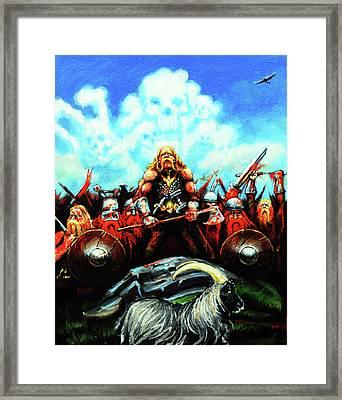 Viking Raiders Framed Print by Chris Bahn