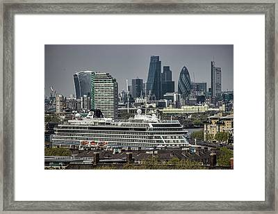 Viking Sea Cruise Ship Framed Print by Martin Newman