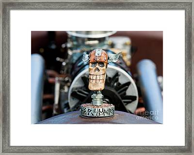 Framed Print featuring the photograph Viking Skull Hood Ornament by Chris Dutton