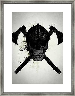 Viking Skull Framed Print