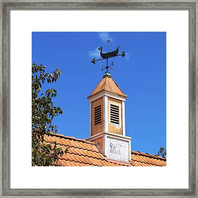 Viking Wind Vane Framed Print by Art Block Collections