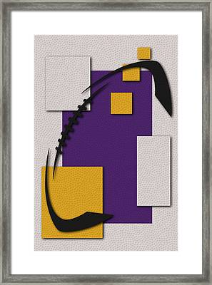 Vikings Football Art Framed Print by Joe Hamilton