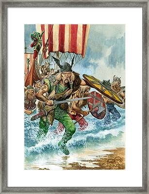 Vikings Framed Print by Pete Jackson