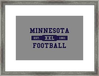 Vikings Retro Shirt Framed Print by Joe Hamilton
