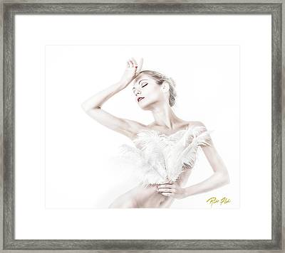 Viktory In White - Feathered Framed Print by Rikk Flohr