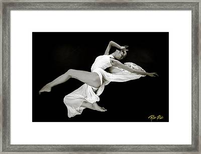 Framed Print featuring the photograph Viktory On Black by Rikk Flohr