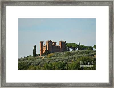 Villa Architecture In Tuscany Italy Framed Print by DejaVu Designs
