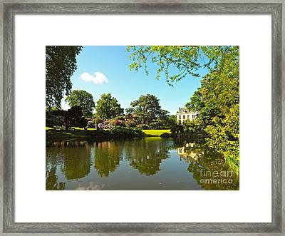Villa At The Arboretum Framed Print by Alex Cassels