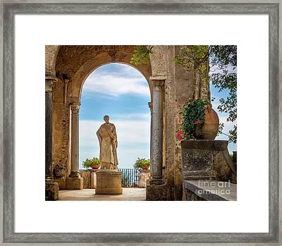 Villa Cimbrone Statue Framed Print by Inge Johnsson