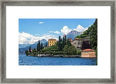 Villa Cipressi On Lake Como Framed Print