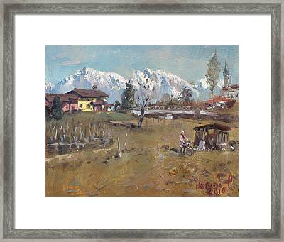 Villa Di Limana Framed Print by Ylli Haruni
