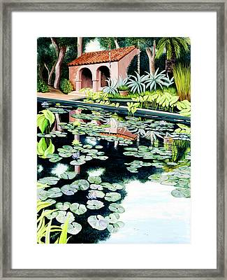 Lily's Pond - Prints Available In Large And Smaller Sizes Framed Print