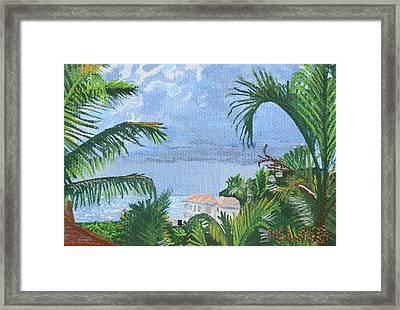 Villa In Guana Bay Framed Print