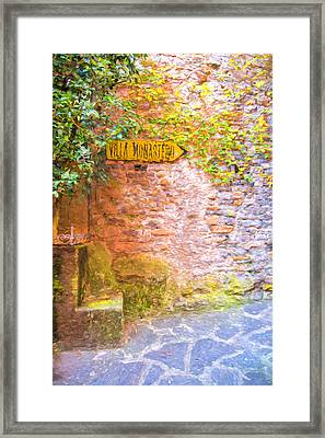 Villa Monastero Framed Print by Gary Guthrie