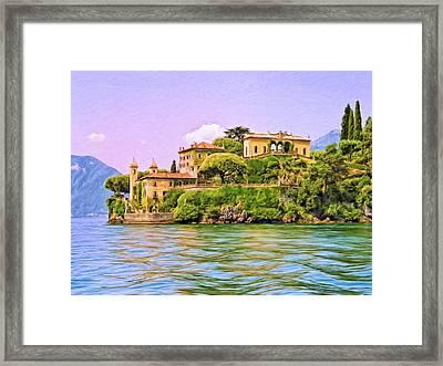Villa On Lake Como Framed Print