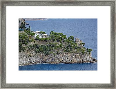 Villa Owned By Sophia Loren On The Amalfi Coast In Italy Framed Print