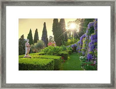 Villa Pergola Framed Print