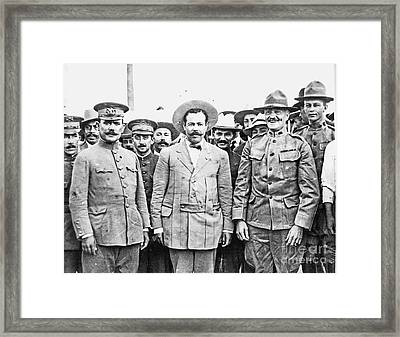Villa - Pershing - Patton Framed Print