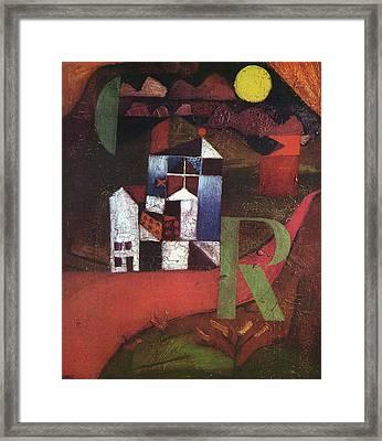 Villa R Framed Print by Paul Klee